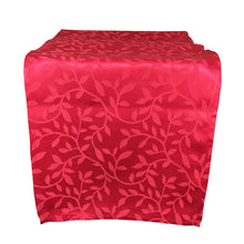 Load image into Gallery viewer, http://images.esellerpro.com/2278/I/188/689/bowden-leaf-pattern-table-runner-red.JPG