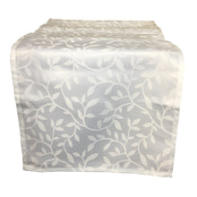 Load image into Gallery viewer, http://images.esellerpro.com/2278/I/188/689/bowden-leaf-pattern-table-runner-white.JPG