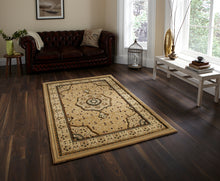 Load image into Gallery viewer, http://images.esellerpro.com/2278/I/104/771/heritage-4400-traditional-classic-design-wool-look-rug-mat-beige-room.jpg