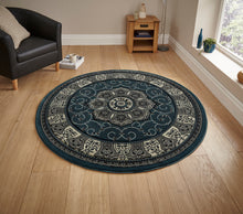 Load image into Gallery viewer, http://images.esellerpro.com/2278/I/104/771/heritage-4400-tradtional-swirl-rug-dark-blue-circle.jpg