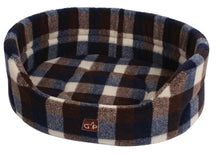 Load image into Gallery viewer, http://images.esellerpro.com/2278/I/129/913/highland-premium-oval-dog-pet-bed-autumn-check.jpg