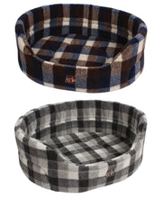 Load image into Gallery viewer, http://images.esellerpro.com/2278/I/129/913/highland-premium-oval-dog-pet-bed-autumn-winter-check-group-image.jpg
