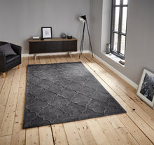Load image into Gallery viewer, http://images.esellerpro.com/2278/I/135/496/hong-kong-8583-arabesque-trellis-pattern-rug-mat-charcoal-room.jpg
