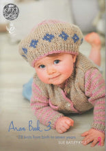 Load image into Gallery viewer, http://images.esellerpro.com/2278/I/131/513/king-cole-aran-book-3-baby-children-knitting-patterns-front.jpg