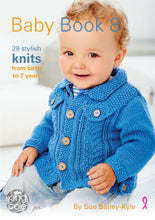 Load image into Gallery viewer, http://images.esellerpro.com/2278/I/147/006/king-cole-baby-book-eight-8-knitting-patterns-1.jpg