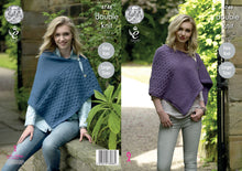 Load image into Gallery viewer, http://images.esellerpro.com/2278/I/131/501/king-cole-chunky-knitting-pattern-ladies-womens-easy-knit-capes-4748.jpg