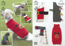 Load image into Gallery viewer, http://images.esellerpro.com/2278/I/113/561/king-cole-double-knitting-dk-pattern-christmas-dog-coats-4115.jpg