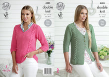 Load image into Gallery viewer, http://images.esellerpro.com/2278/I/126/402/king-cole-double-knitting-dk-pattern-ladies-womens-cardigan-sweater-4485.jpg