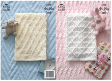 Load image into Gallery viewer, http://images.esellerpro.com/2278/I/112/701/king-cole-double-knitting-pattern-baby-blankets-3506-border.jpg