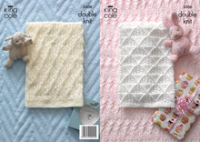 Load image into Gallery viewer, http://images.esellerpro.com/2278/I/112/701/king-cole-double-knitting-pattern-baby-blankets-3506.jpg