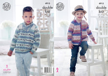 Load image into Gallery viewer, http://images.esellerpro.com/2278/I/142/530/king-cole-double-knitting-pattern-childrens-sweater-cardigan-4915.jpg