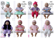 Load image into Gallery viewer, http://images.esellerpro.com/2278/I/116/686/king-cole-double-knitting-pattern-dolls-outfits-clothing-4000.jpg