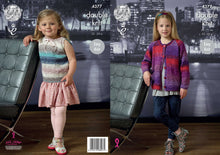 Load image into Gallery viewer, http://images.esellerpro.com/2278/I/124/528/king-cole-double-knitting-pattern-girls-cardigan-top-shine-dk-4377.jpg