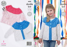 Load image into Gallery viewer, http://images.esellerpro.com/2278/I/124/679/king-cole-double-knitting-pattern-girls-raglan-sleeve-sweater-cardigan-4446.jpg