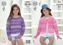 Load image into Gallery viewer, http://images.esellerpro.com/2278/I/124/661/king-cole-double-knitting-pattern-girls-sweater-cardigan-4462.jpg