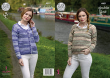 Load image into Gallery viewer, http://images.esellerpro.com/2278/I/134/534/king-cole-double-knitting-pattern-ladies-cardigan-sweater-4801.jpg
