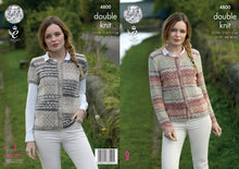 Load image into Gallery viewer, http://images.esellerpro.com/2278/I/134/531/king-cole-double-knitting-pattern-ladies-long-capped-sleeve-cardigans-4800.jpg
