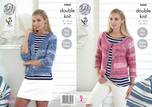Load image into Gallery viewer, http://images.esellerpro.com/2278/I/124/655/king-cole-double-knitting-pattern-ladies-womens-cardigans-4460.jpg