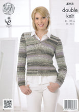 Load image into Gallery viewer, http://images.esellerpro.com/2278/I/119/157/king-cole-drifter-double-knitting-dk-pattern-cardigan-top-4258-back.jpg