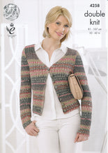 Load image into Gallery viewer, http://images.esellerpro.com/2278/I/119/157/king-cole-drifter-double-knitting-dk-pattern-cardigan-top-4258-front.jpg