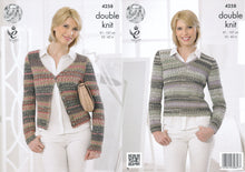 Load image into Gallery viewer, http://images.esellerpro.com/2278/I/119/157/king-cole-drifter-double-knitting-dk-pattern-cardigan-top-4258.jpg