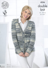 Load image into Gallery viewer, http://images.esellerpro.com/2278/I/119/149/king-cole-drifter-double-knitting-dk-pattern-cardigan-waistcoat-4256-front.jpg