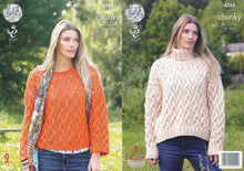 Load image into Gallery viewer, http://images.esellerpro.com/2278/I/119/454/king-cole-ladies-chunky-knitting-pattern-lace-effect-round-polo-neck-sweaters-4385.jpg