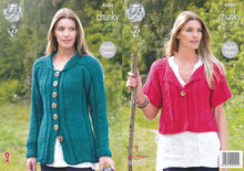 Load image into Gallery viewer, http://images.esellerpro.com/2278/I/119/458/king-cole-ladies-chunky-knitting-pattern-raglan-sleeve-cardigan-coat-4386.jpg