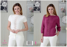 Load image into Gallery viewer, http://images.esellerpro.com/2278/I/134/360/king-cole-ladies-womens-double-knitting-pattern-boat-neck-sweater-top-4760-border.jpg