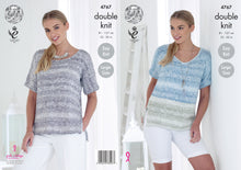 Load image into Gallery viewer, http://images.esellerpro.com/2278/I/135/162/king-cole-ladies-womens-double-knitting-pattern-easy-knit-round-v-neck-tops-4767.jpg