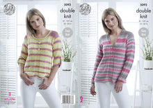 Load image into Gallery viewer, http://images.esellerpro.com/2278/I/147/818/king-cole-ladies-womens-double-knitting-pattern-easy-knit-sweaters-5092.jpg