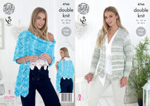 Load image into Gallery viewer, http://images.esellerpro.com/2278/I/135/159/king-cole-ladies-womens-double-knitting-pattern-lacy-cardigan-shawl-4766.jpg