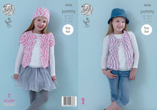 Load image into Gallery viewer, http://images.esellerpro.com/2278/I/126/374/king-cole-yummy-knitting-pattern-girls-waistcoat-cardigan-hat-4536.jpg