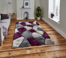 Noble House 3d Pebble Hand Tufted Shaggy Rug Various