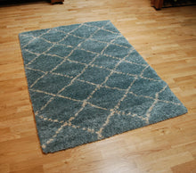 Load image into Gallery viewer, http://images.esellerpro.com/2278/I/117/479/royal-nomadic-shaggy-pile-diamond-rug-5413-teal.jpg
