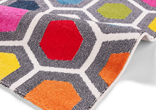 Load image into Gallery viewer, http://images.esellerpro.com/2278/I/136/026/sunrise-0130A-bright-geometric-hexagon-design-rug-mat-detail.jpg