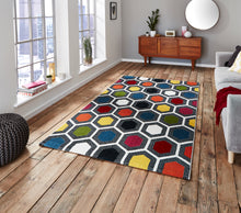 Load image into Gallery viewer, http://images.esellerpro.com/2278/I/136/026/sunrise-0130A-bright-geometric-hexagon-design-rug-mat-room.jpg