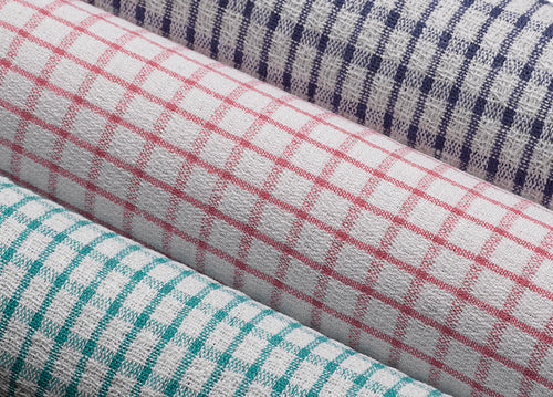 Wonderdry 100% Cotton Checked Tea Towels (Various Colours & Quantities)