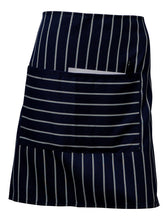 Load image into Gallery viewer, http://images.esellerpro.com/2278/I/153/797/woven-stripe-butchers-apron-large-pocket-navy-2.jpg