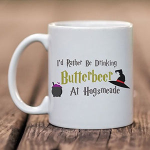 Harry Potter Drinking Butterbeer at Hogsmeade Personalised Mug