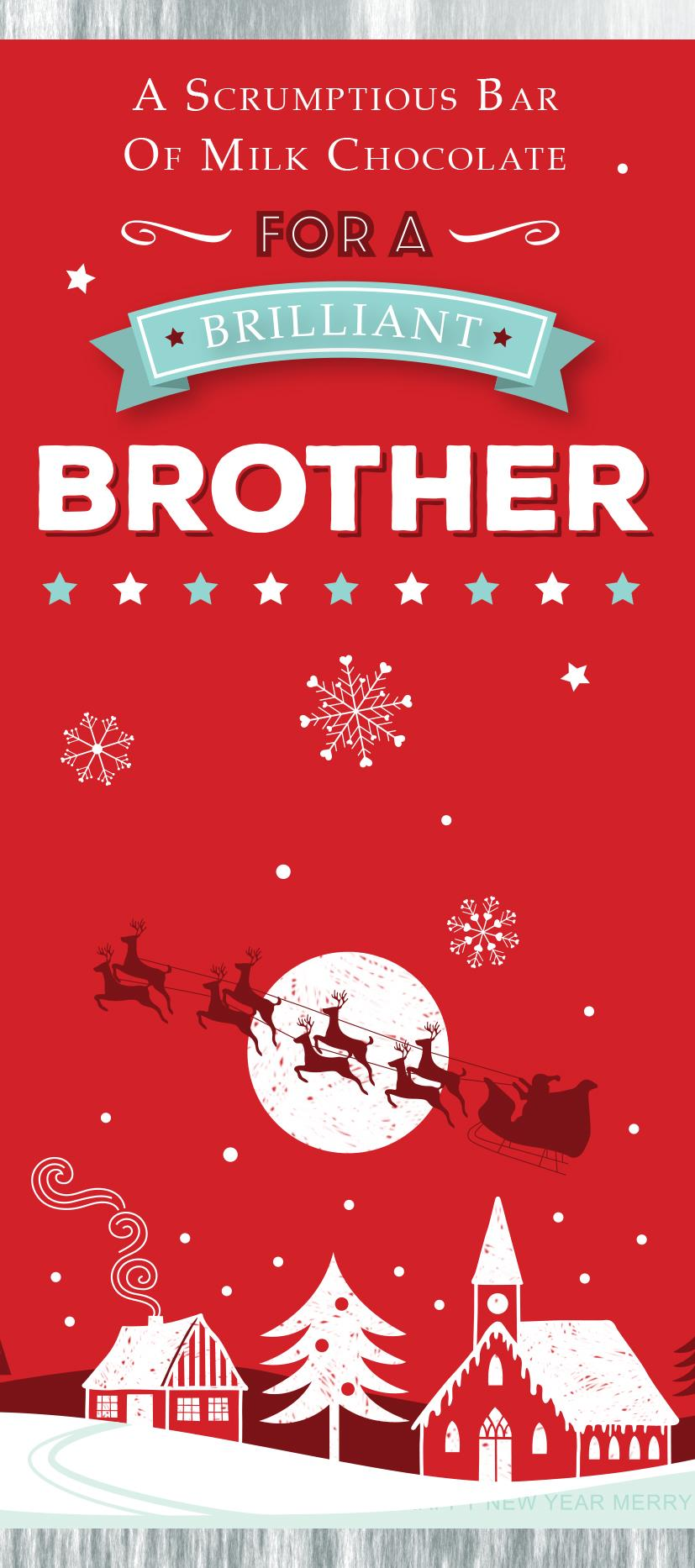 Brother  Xmas Chocolate Bar