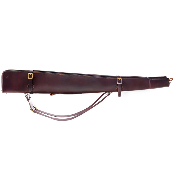 Leather Double Gun Slip (Chocolate)