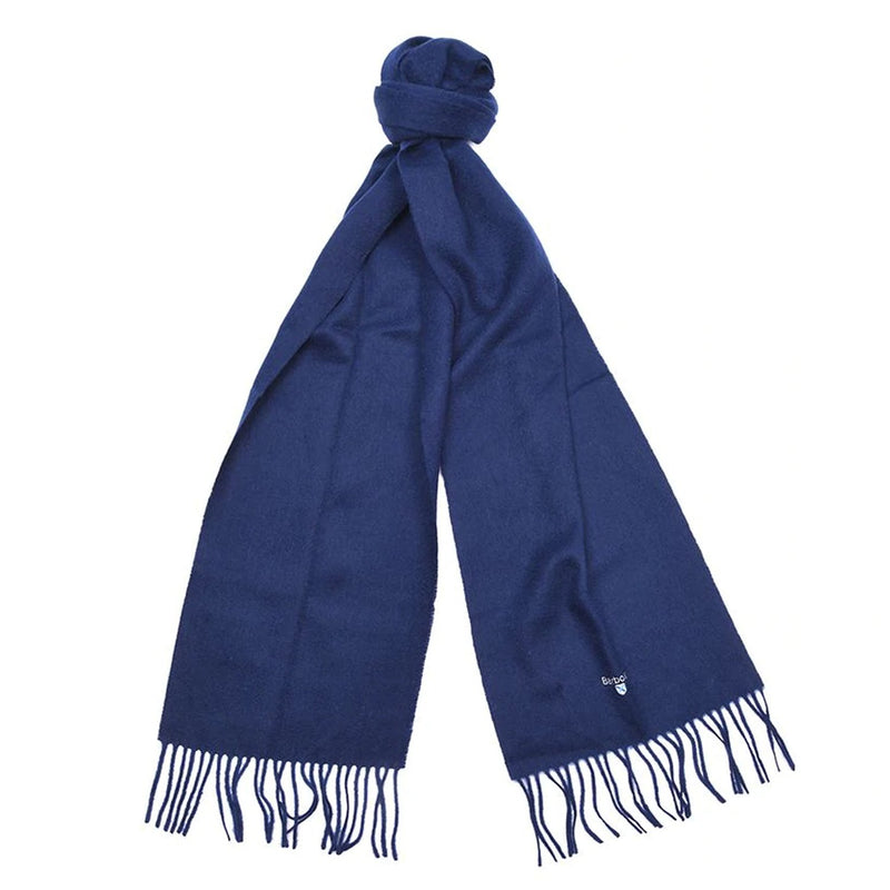 Barbour Plain Lambswool Scarf (Navy)