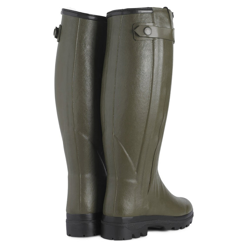 Ladies Chasseur Fourree Wool Lined Boot (Vert Chameau)