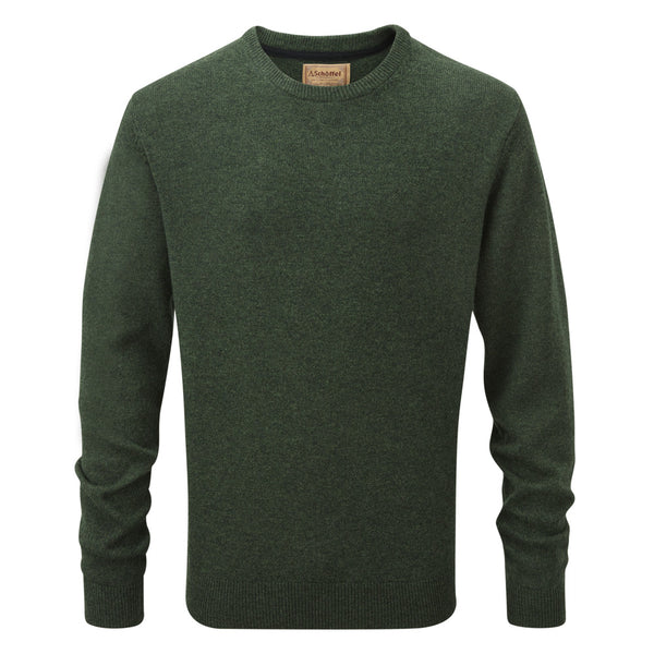 Lambswool Crew Neck (Forest)