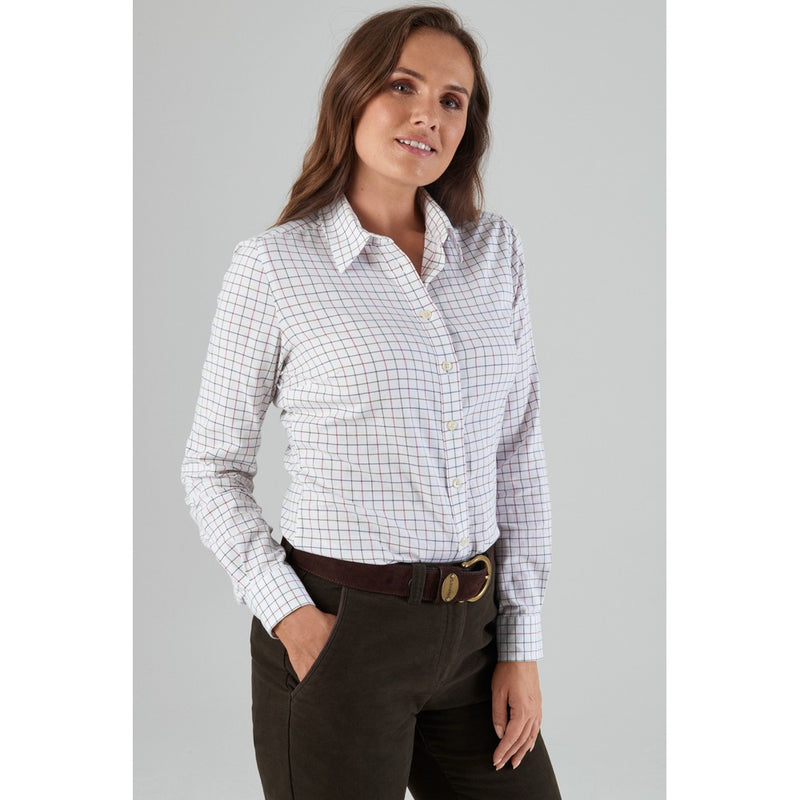 Schoffel Ladies Tattersall Shirt (Red/Olive/Navy)