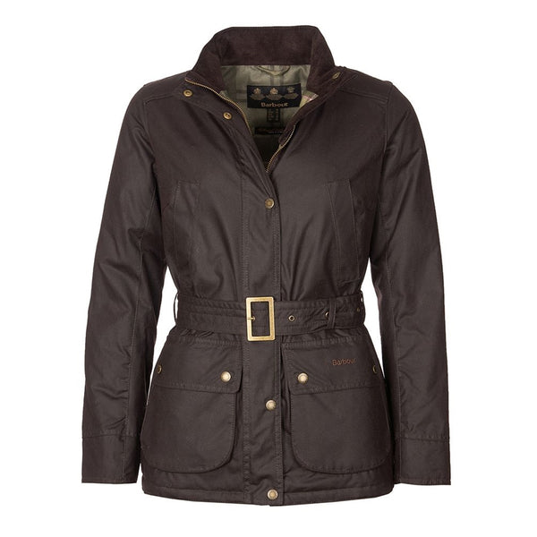 Ladies Montgomery Wax Jacket (Rust)