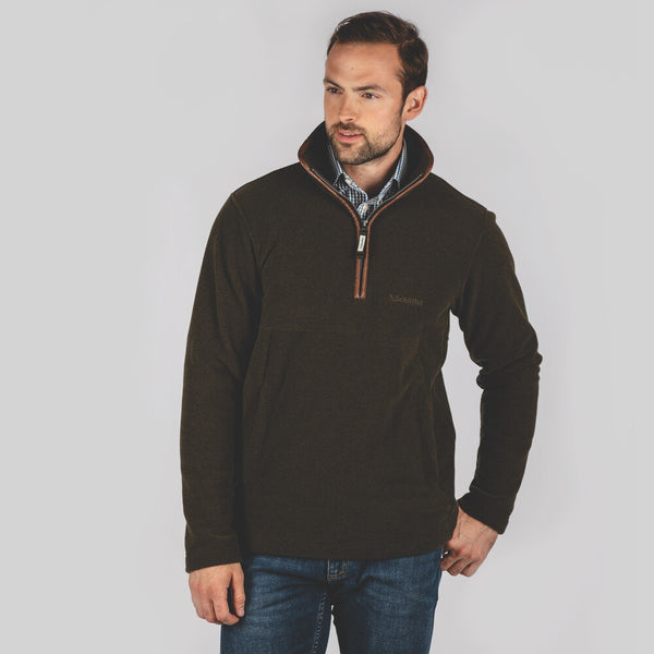 Berkeley 1/4 Zip Fleece (Dark Olive)
