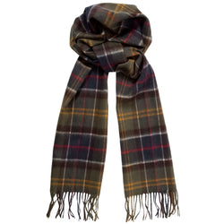 Barbour Lambswool and  Cashmere Tartan Scarf (Classic Tartan)