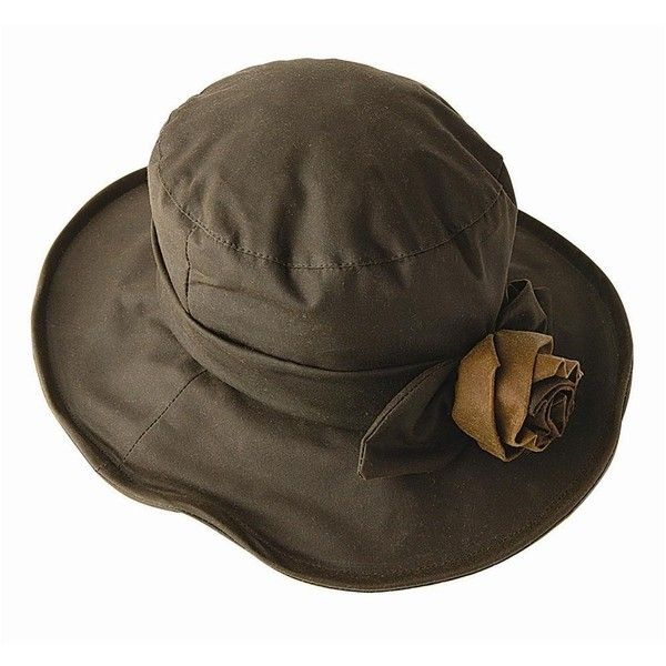 Wax Hat With Rose (Olive)